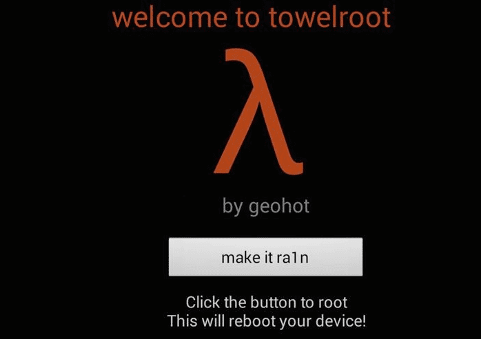 TowelRoot Make it Ra1n - Download TowelRoot v5 for Galaxy S5