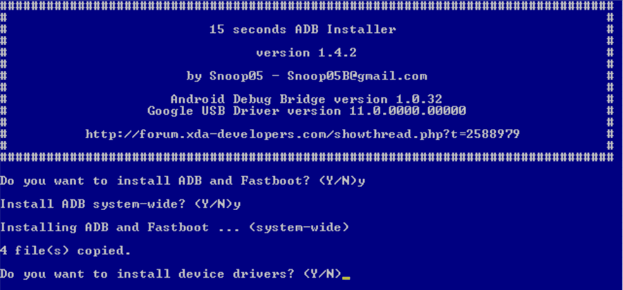 15 Second ADB Installer - Setup ADB and Fastboot Drivers on your PC