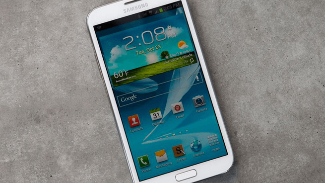 Galaxy Note 2 with Slim Omni ROM