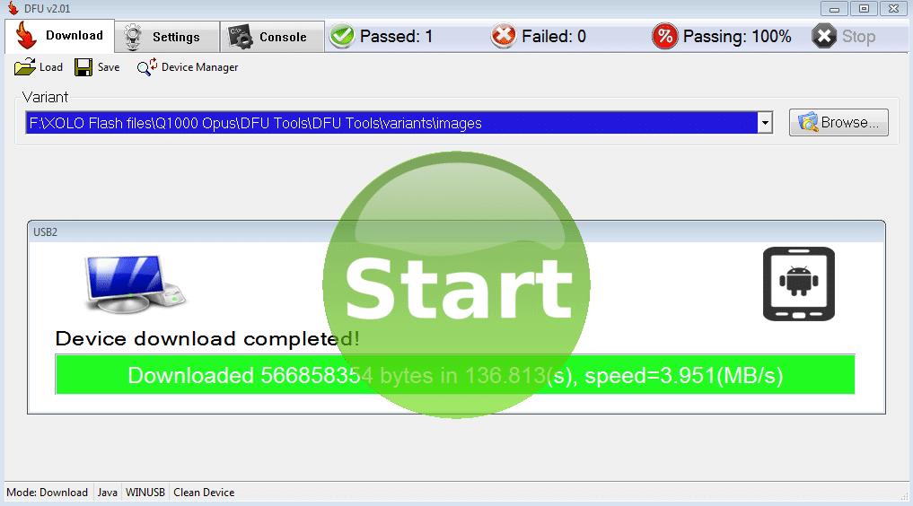 dfu-start-flashing-green-button