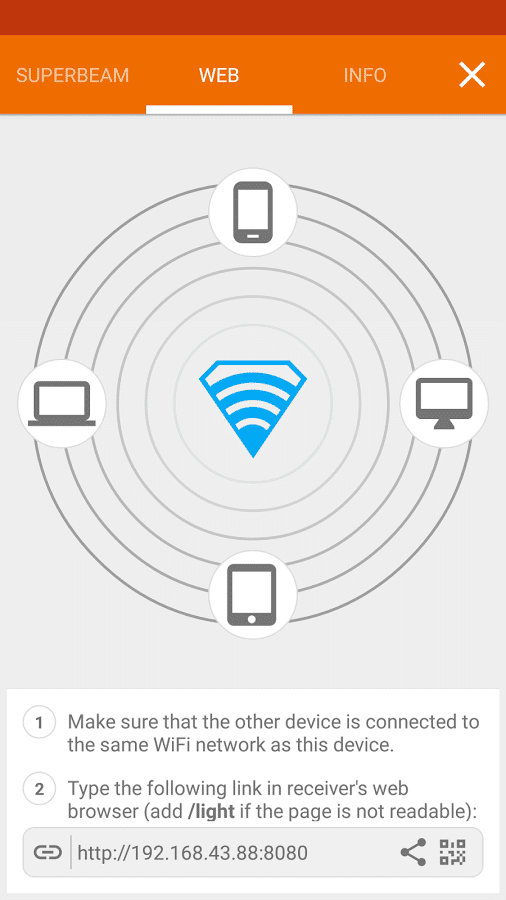 SuperBeam Wi-Fi File Sharing App - File Transferring tools