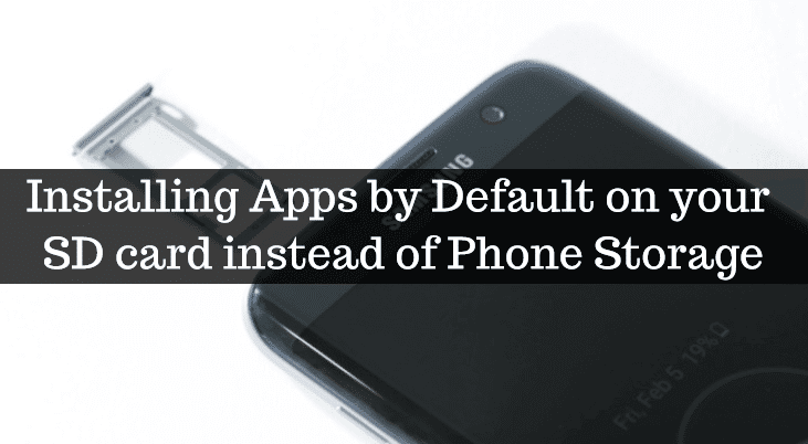 Installing Apps by Default on your SD card