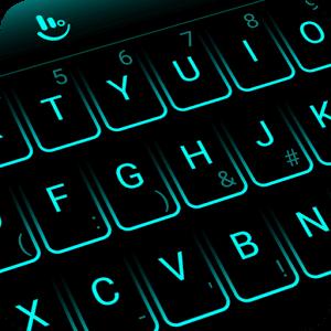 Neon Blue Keyboard