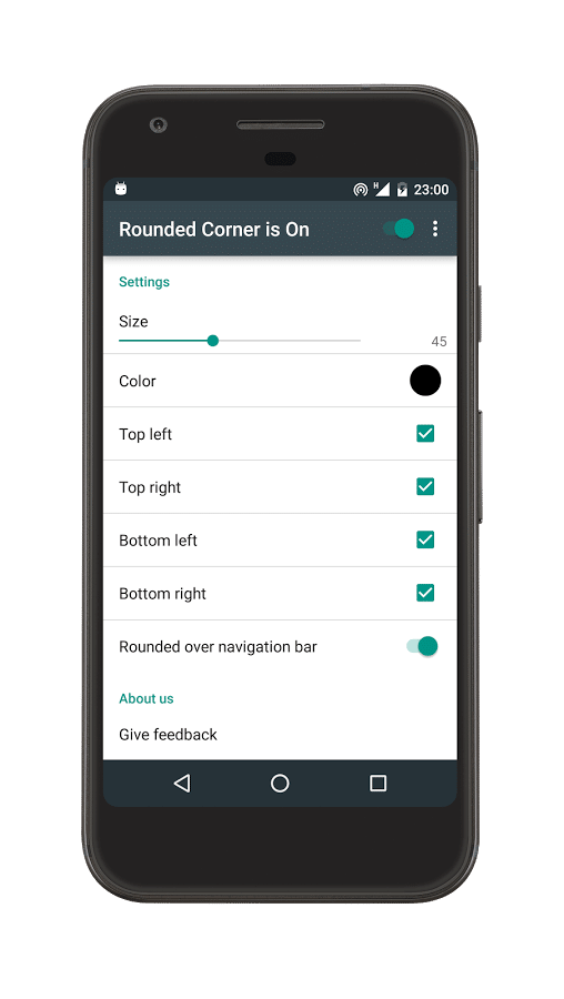 Rounded Corner Android App