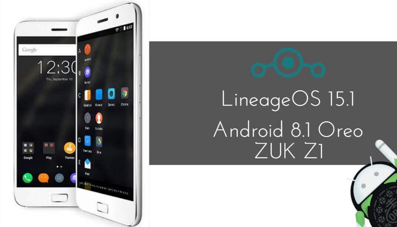 LineageOS 15.1 on ZUK Z1