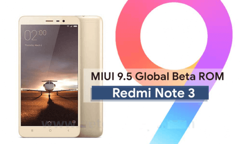 MIUI 9.5.1.0 Global Stable ROM for Redmi Note 3