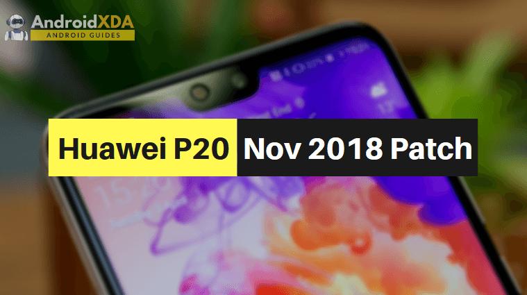 Download Huawei P20 EML-L29 Firmware Update [November 2018 Patch]