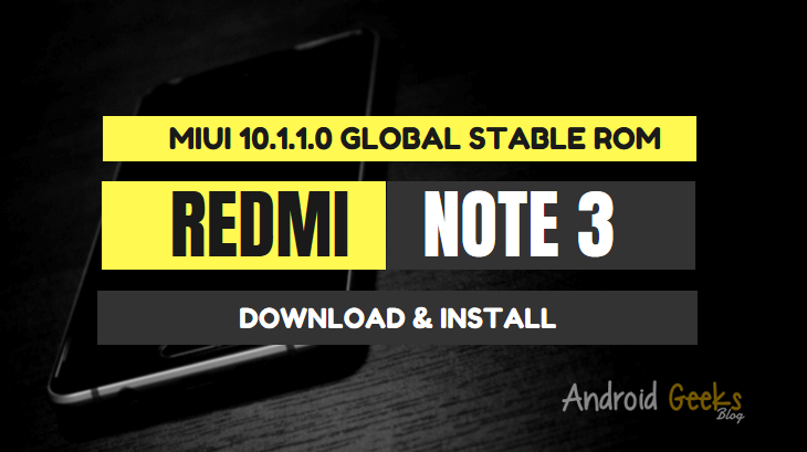 Download MIUI 10.1.1.0 Global Stable ROM