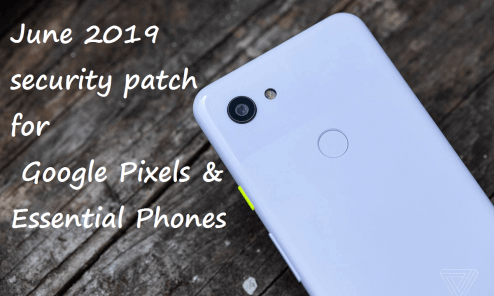 Install June 2019 Security Patch For Google Pixels and Essential Phones 4