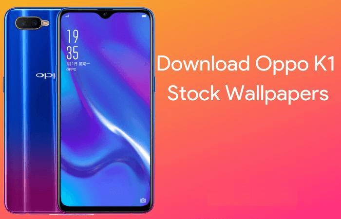 stock wallpaper of Oppo K1