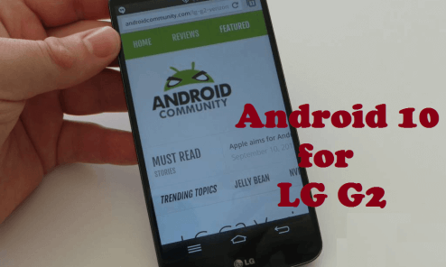 Android 10 for LG G2