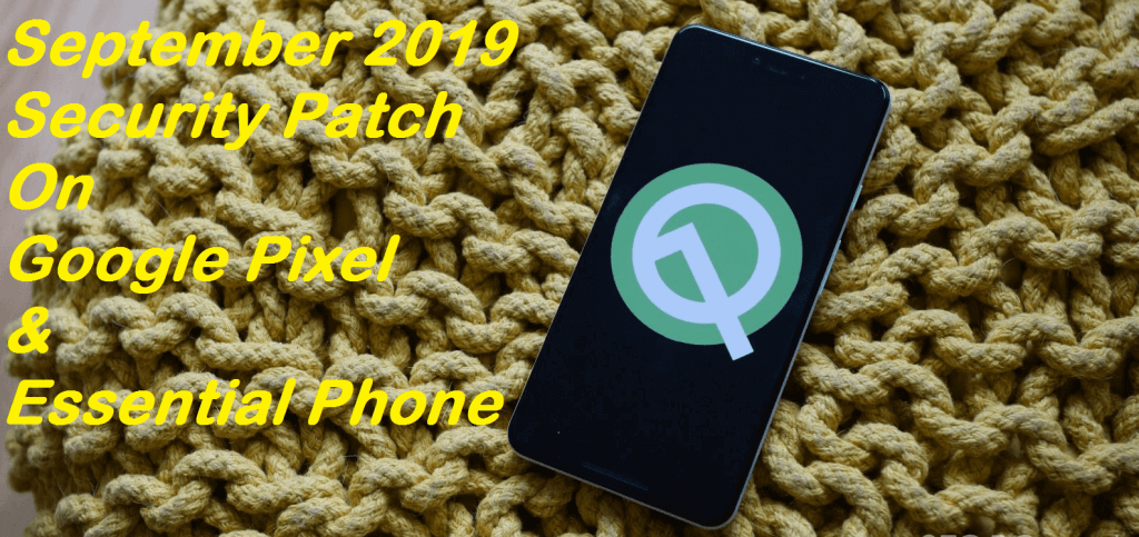 September 2019 security patch