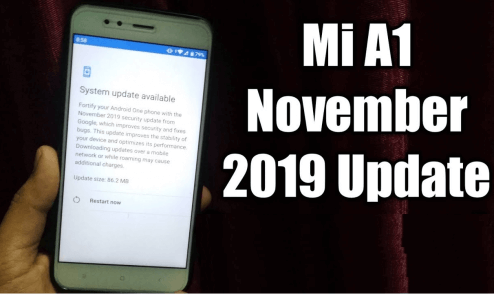 November 2019 security patch for Xiaomi