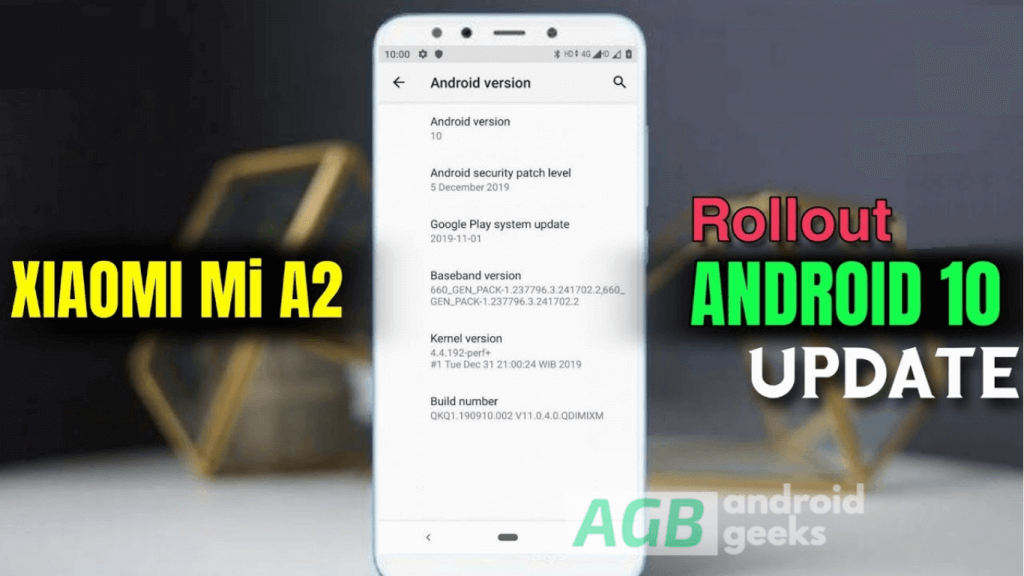 Android 10 for Xiaomi Mi A2