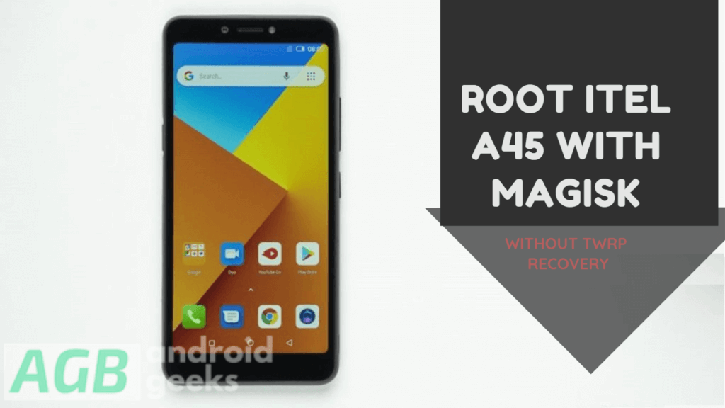 Root Itel A45 with Magisk