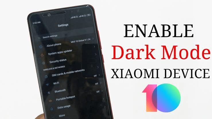 enable dark mode on Xiaomi Redmi 8