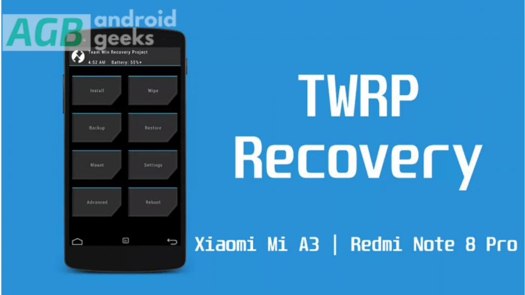 official TWRP recovery on Xiaomi Mi A3