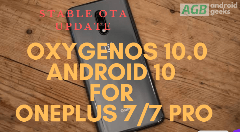 stable OxygenOS 10.0 Android 10 for OnePlus 7