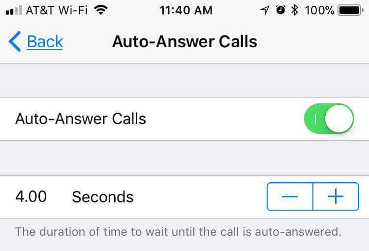auto answer calls