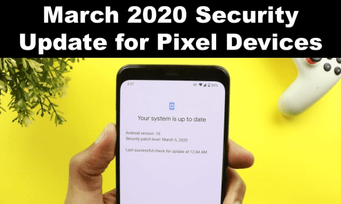 March 2020 security patch
