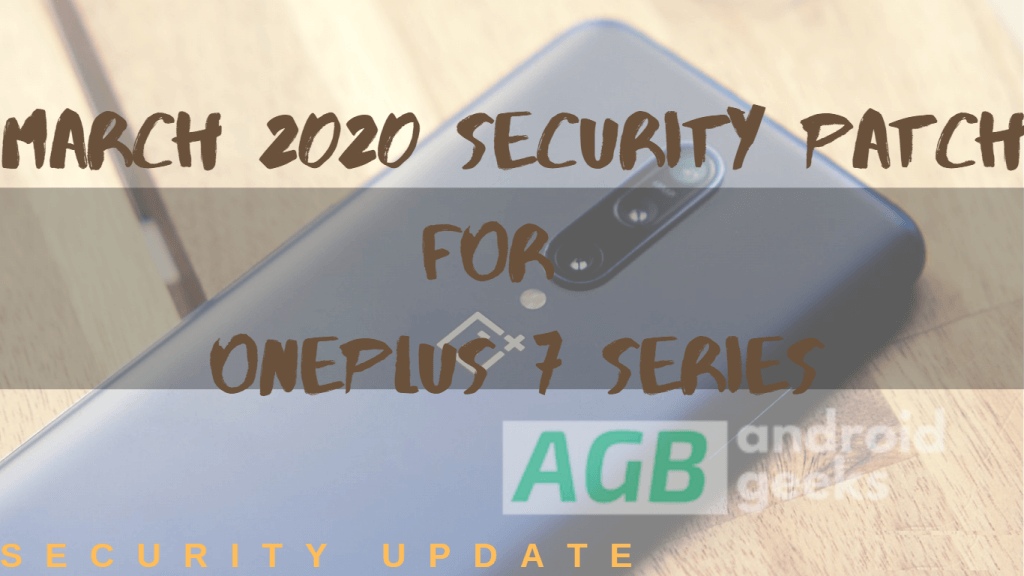 March 2020 security patch for OnePlus 7
