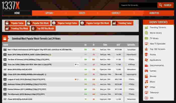 1337x- best torrent sites