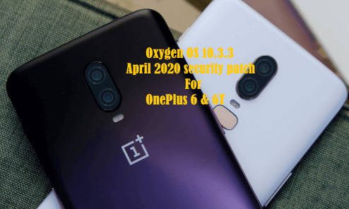 April 2020 security patch for OnePlus 6