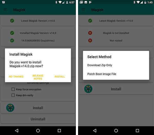 Download Latest Magisk zip 20.4 and Magisk Manager v7.5.1 3