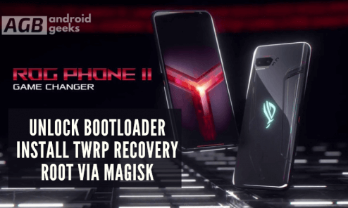 Unlock Bootloader, Install TWRP Recovery and Root Asus ROG using Magisk
