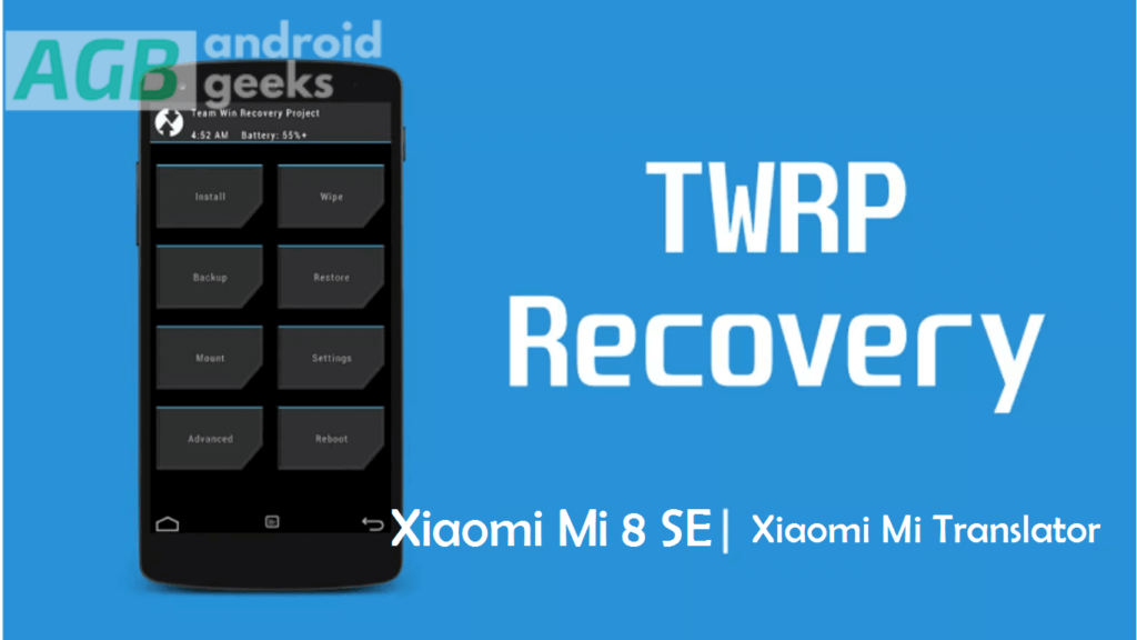 official TWRP Recovery for Xiaomi Mi