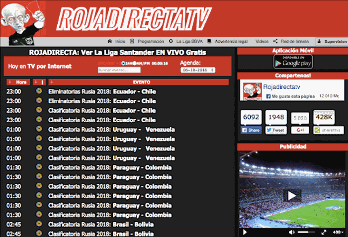 rojadirecta- best sports streaming sites