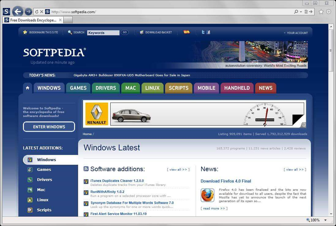 spftpedia- best software download site for Windows 10