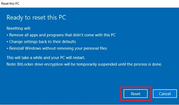 How to Factory Reset Windows 10 5