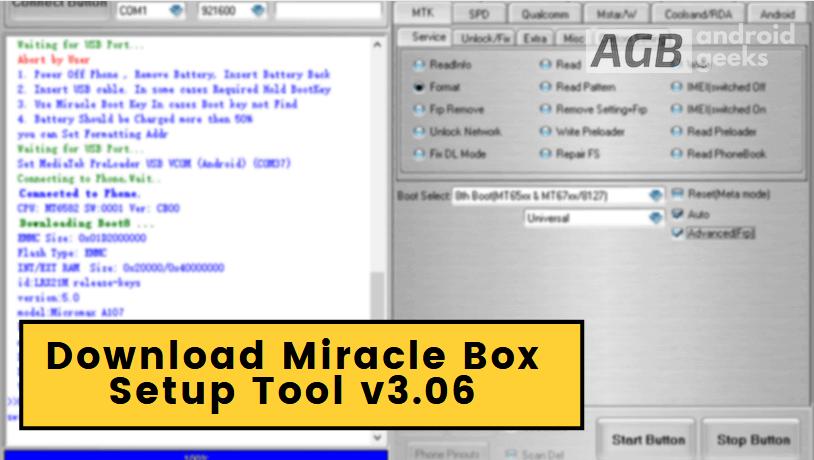 Download Miracle Box Setup Tool v3.06