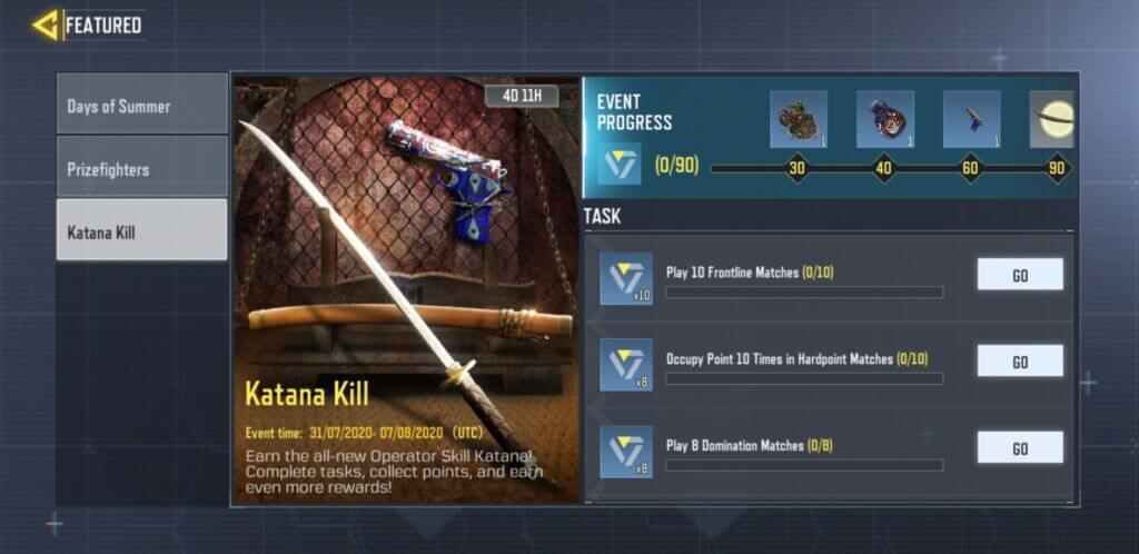 katana kill challenge