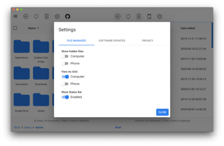 OpenMTP   Android Files Transfer for Mac 2