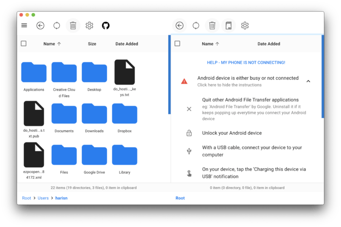 OpenMTP   Android Files Transfer for Mac 4