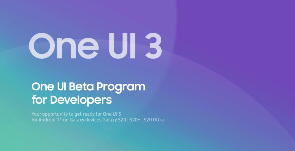 One UI 3 beta program