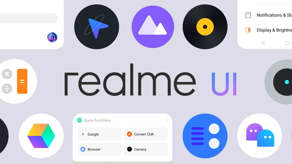 Realme UI system launcher