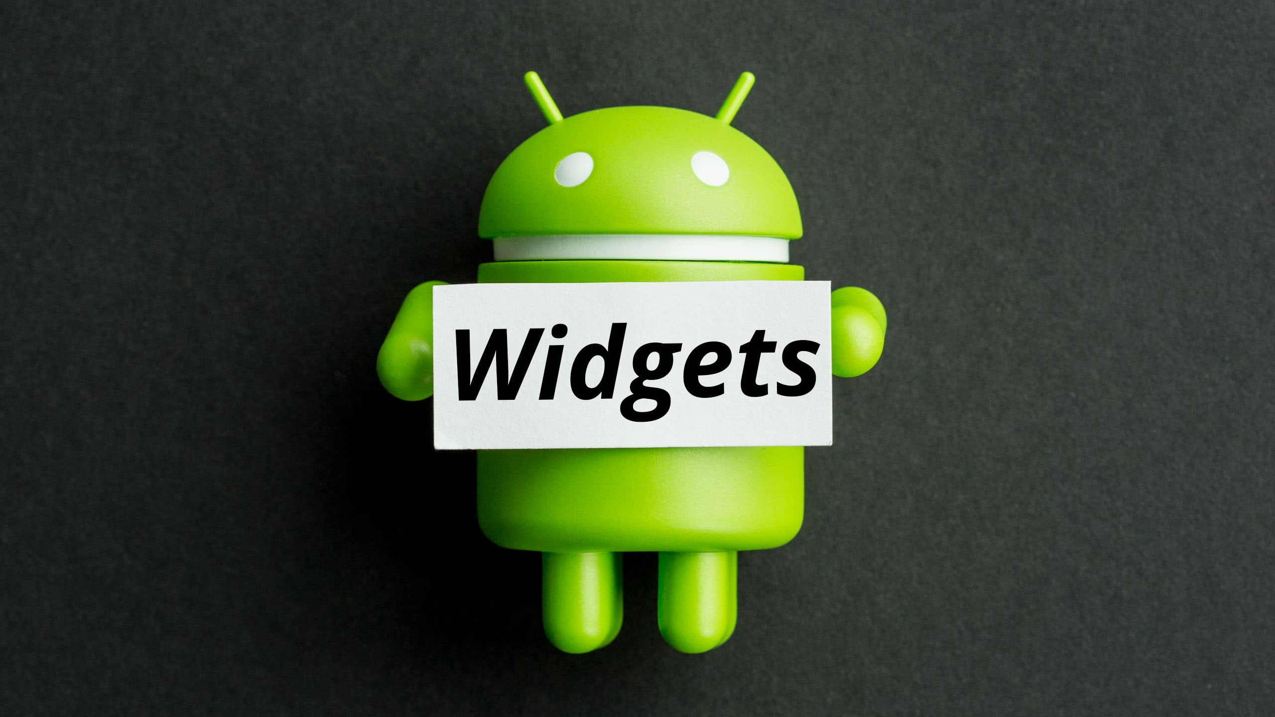add or resize widgets on Android