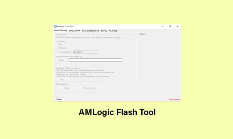 Amlogic Flash tool