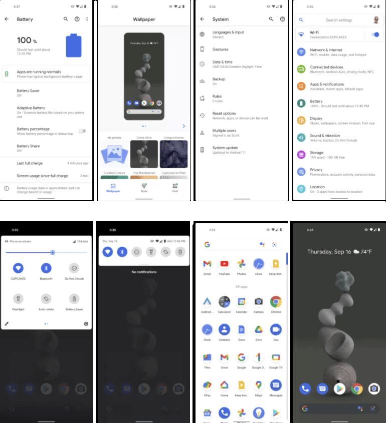Pixel UI pictures